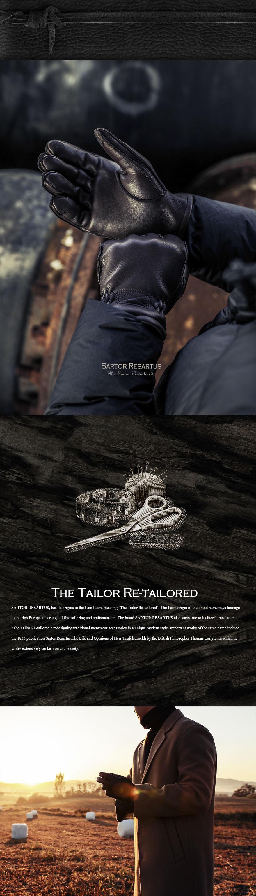 사르토르 리사르투스(SARTOR RESARTUS) 콜트 가죽장갑 블랙
